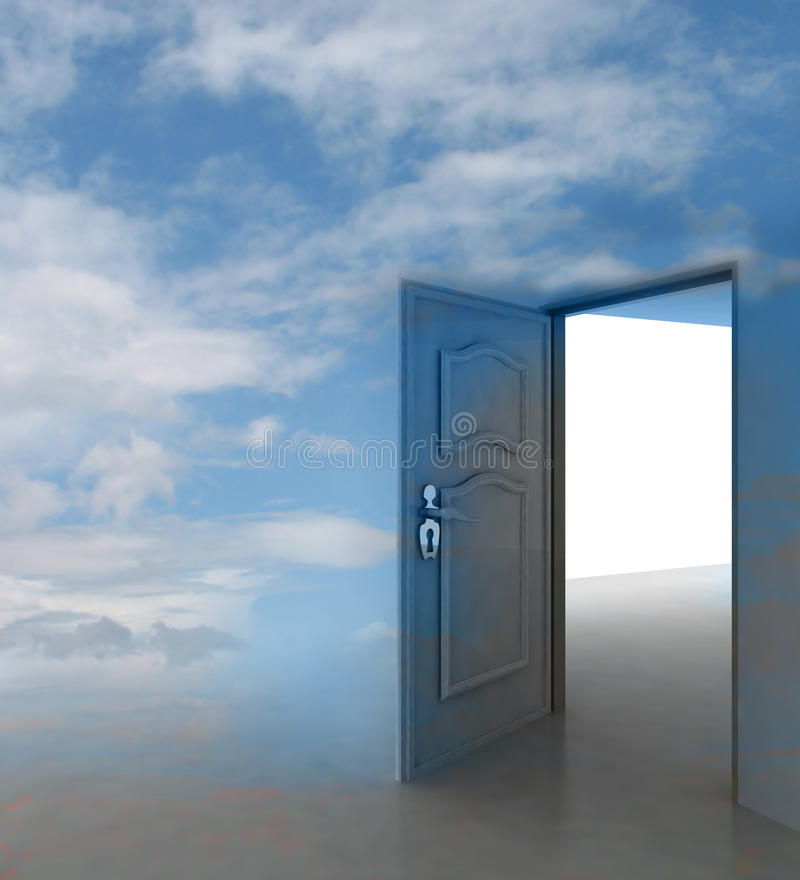 Free Cloudy Sky Doorway Passage Leading To Paradise Stock Image - 28692231