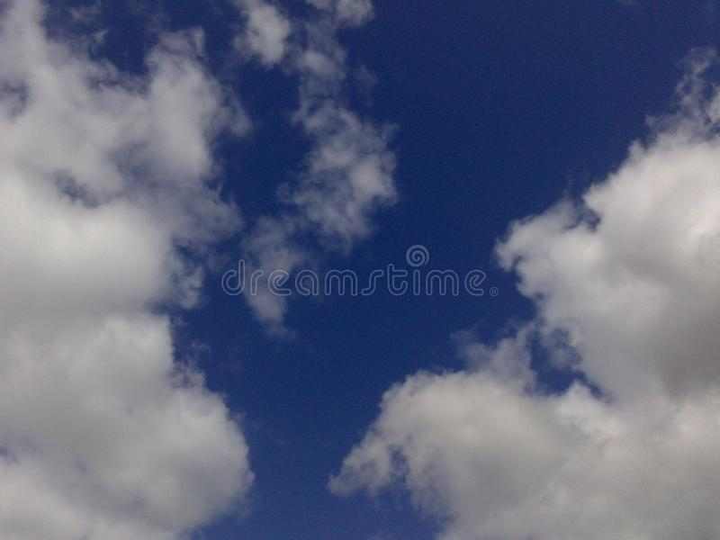 Cloudy sky at the early morning time stock photo