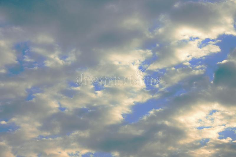 Cloudy sky, ideal for image changes or backgrounds. Cloudy sky, ideal for image changes or backgrounds royalty free stock photography
