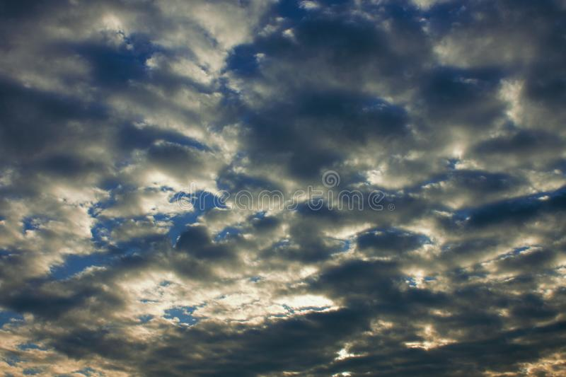 Cloudy sky, ideal for image changes or backgrounds. Cloudy sky, ideal for image changes or backgrounds stock photos