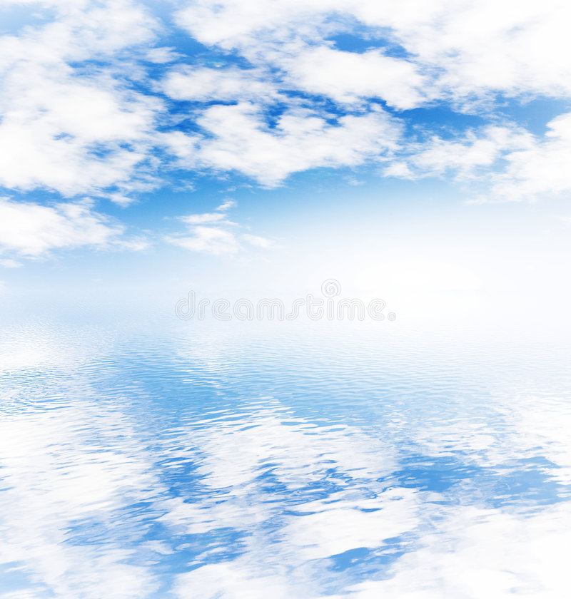 Download Cloudy sky and ocean stock image. Image of rainbow, ripple - 6341895