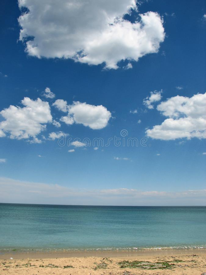 Cloudy sky over 2May royalty free stock image