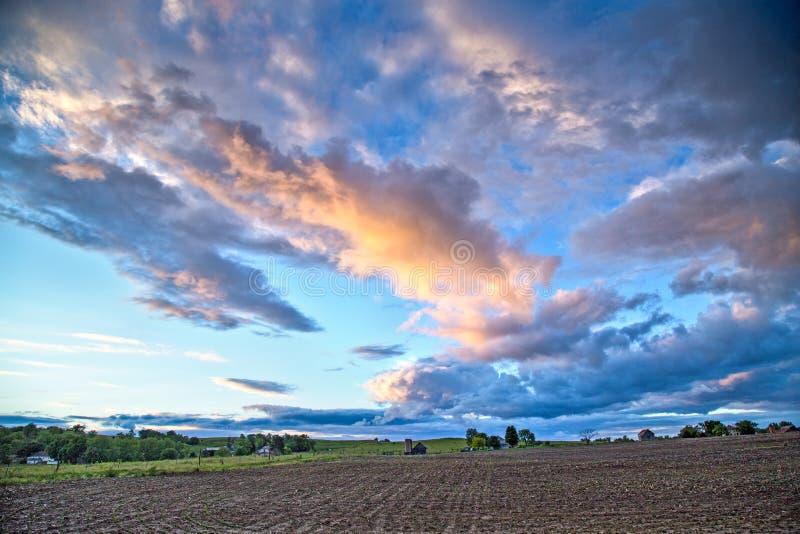 Cloudy sky over Kansas royalty free stock photo