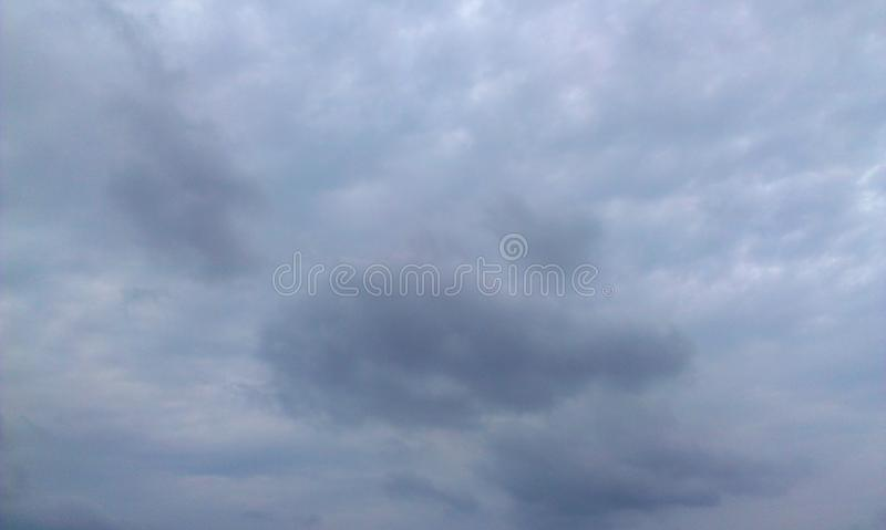 Cloudy. Sky before the rain comes stock photography