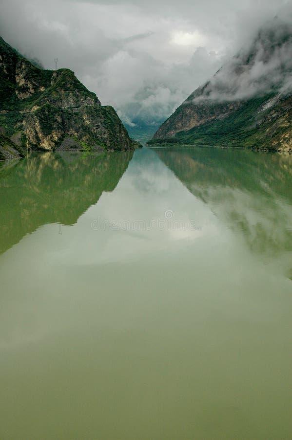 Diexi Lake, China royalty free stock images