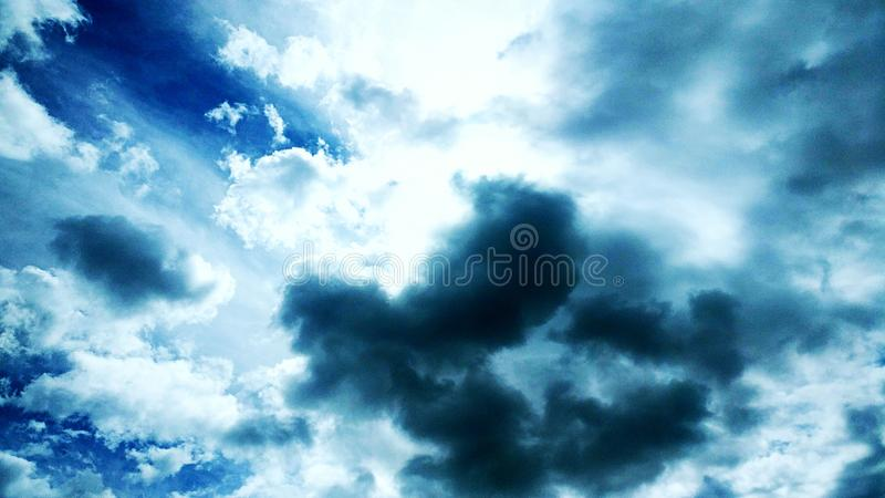 Cloudy sky Spain stock image