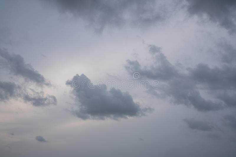 Cloudy Sky before storm is coming / background texture / cloudy sky / natural scene royalty free stock photos