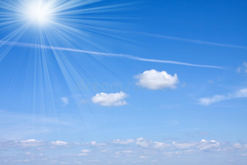 Cloudy sky and sunny light royalty free stock photo