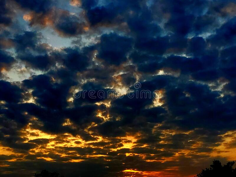 Cloudy skys beautiful stock images