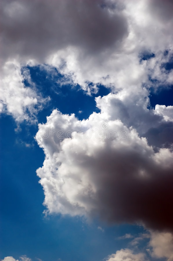 Cloudy skyscape stock images