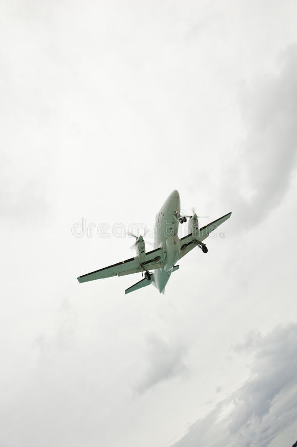Download Cloudy Slanted Airplane stock photo. Image of direct - 24778902