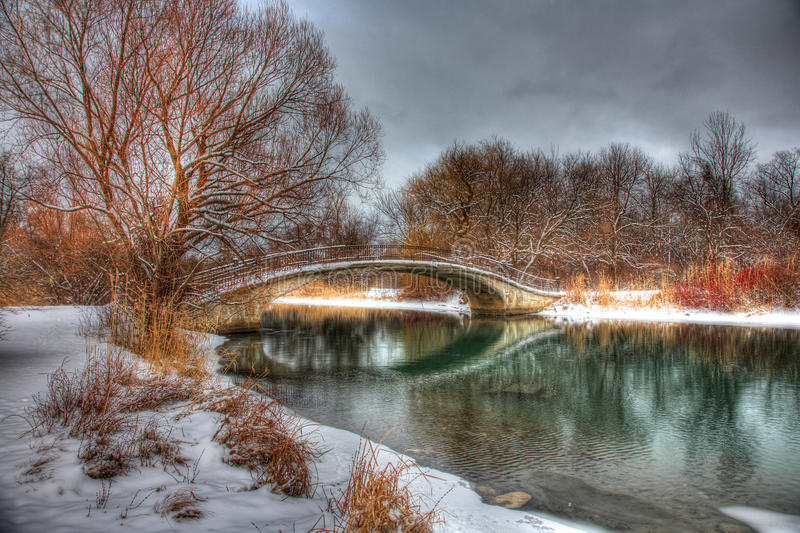 Download Cloudy Snowy Outdoor Winter Park Scene Stock Photo - Image: 12527132
