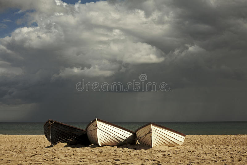 Cloudy summer stock photo