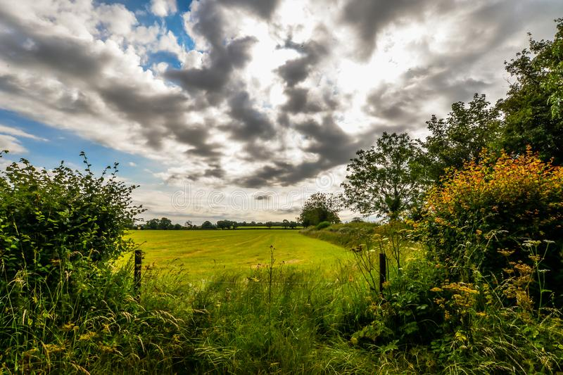 A cloudy summer day in the UK royalty free stock photography