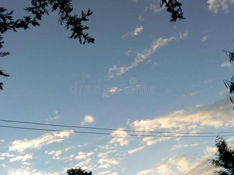 Cloudy sun royalty free stock photography