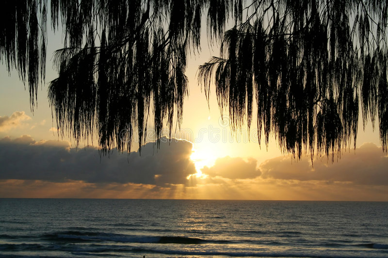 Download Cloudy Sunrise stock image. Image of scene, relax, sand - 4501619
