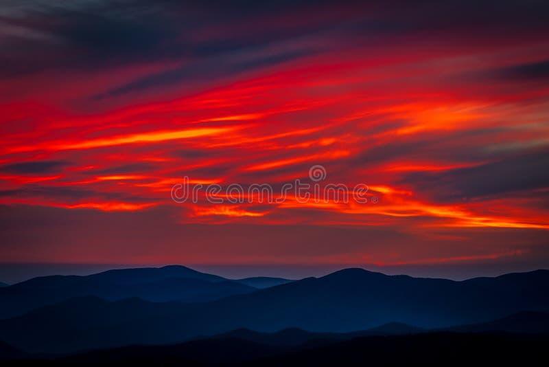 Sunset Great Smoky Mountain National Park stock photos