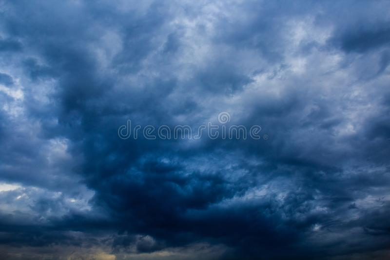Cloudy weather. Baghdad, Iraq – March 14, 2014: photo for cloudy weather in Baghdad city in Iraq, and showing the clouds in the sky royalty free stock image