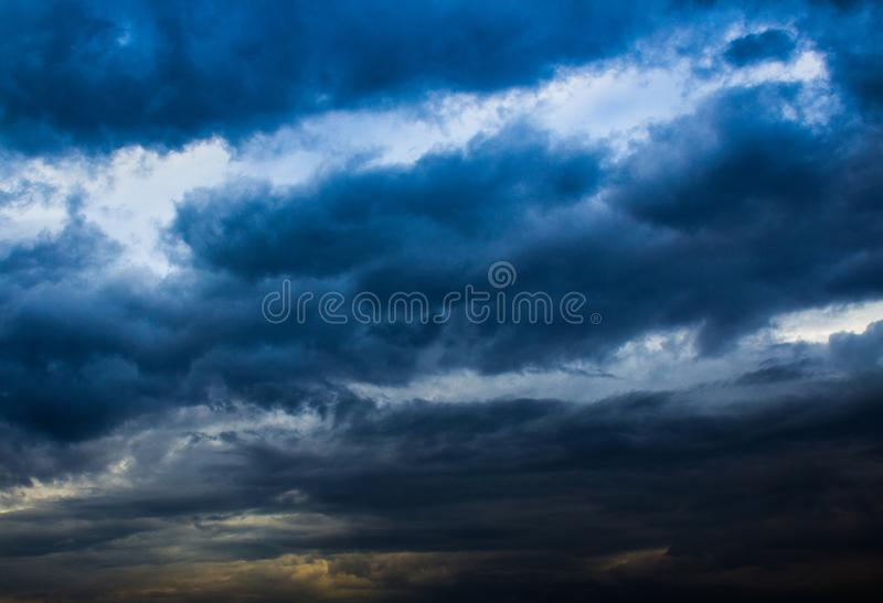 Cloudy weather. Baghdad, Iraq – March 14, 2014: photo for cloudy weather in Baghdad city in Iraq, and showing the clouds in the sky royalty free stock photography