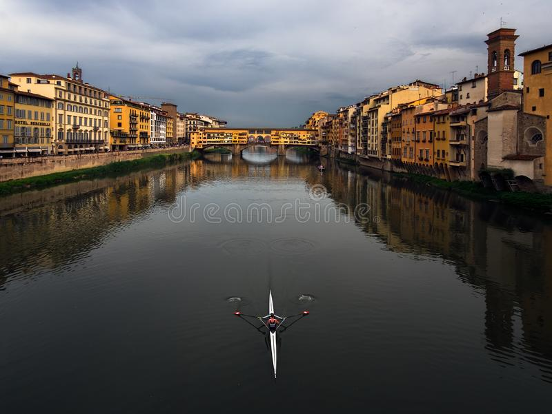 Cloudy weather in Florence. Symmetrical composition. Italy. Cloudy weather in Florence. Symmetrical composition. Tuscany of Italy royalty free stock photography