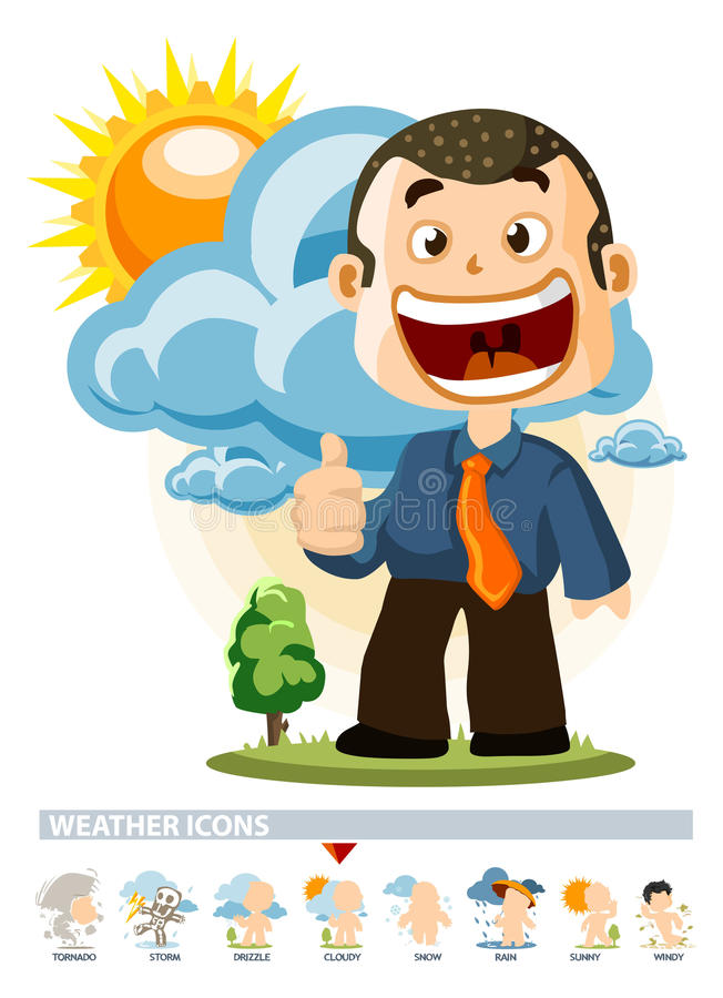 Download Cloudy. Weather Icon stock illustration. Image of wind - 12244747