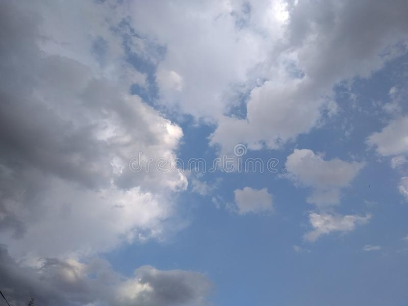 Clouds in Summer season royalty free stock images