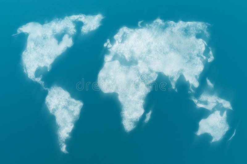 Cloudy World Map Royalty Free Stock Image