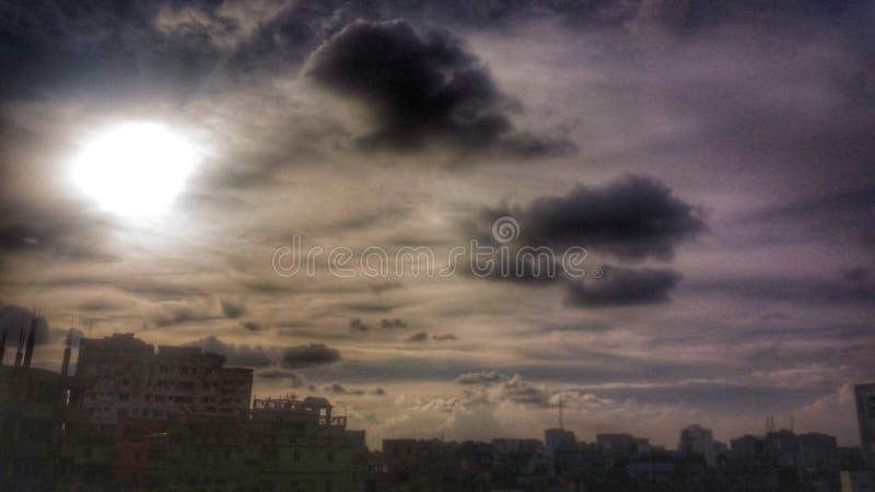 Cloudysky royaltyfria bilder