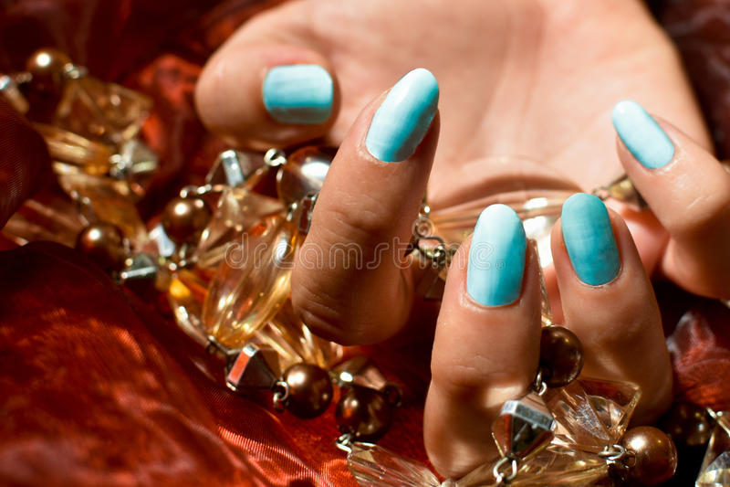 Clous bleus image stock