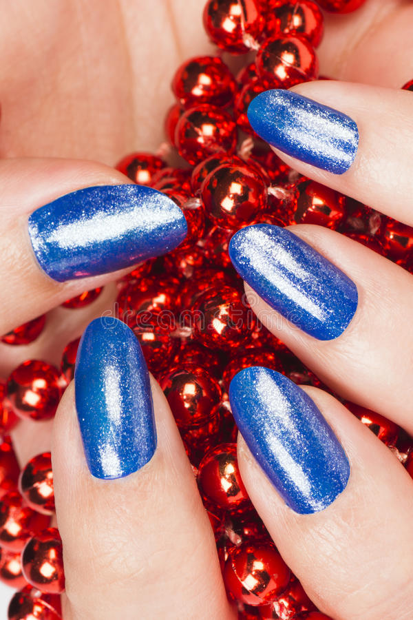 Clous bleus photographie stock libre de droits