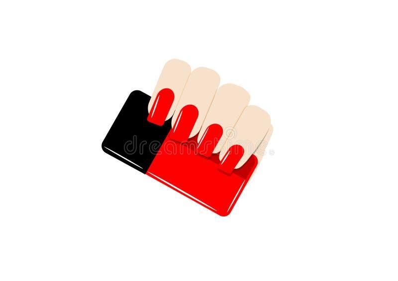 Download Clous et bouteille rouges illustration de vecteur. Illustration du poli - 77152615