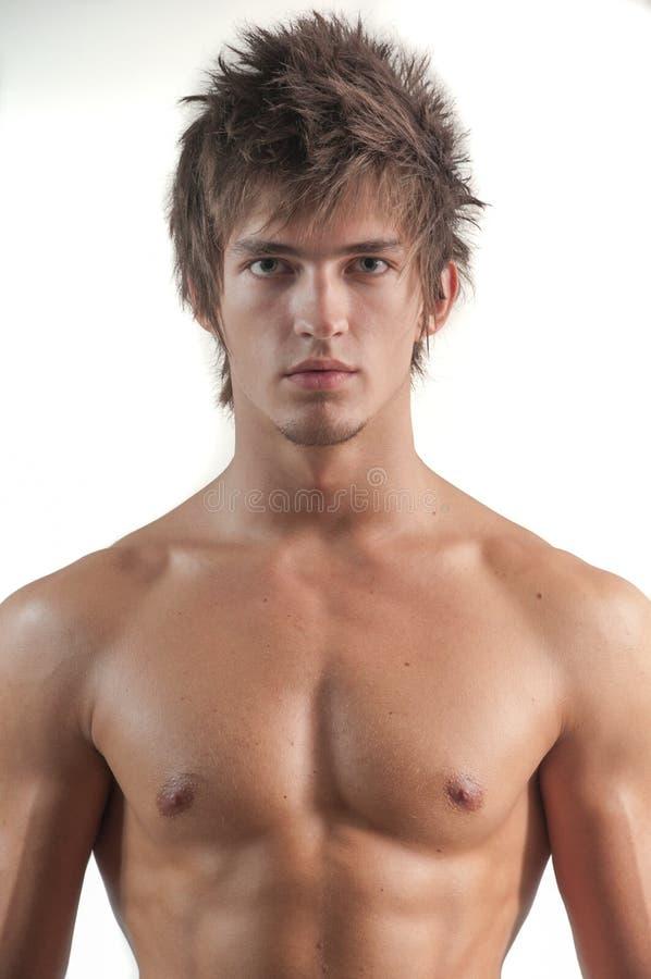 Clouse-up di modello maschio fotografia stock libera da diritti