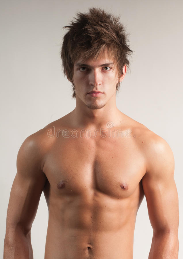 Clouse-up modèle masculin photos stock