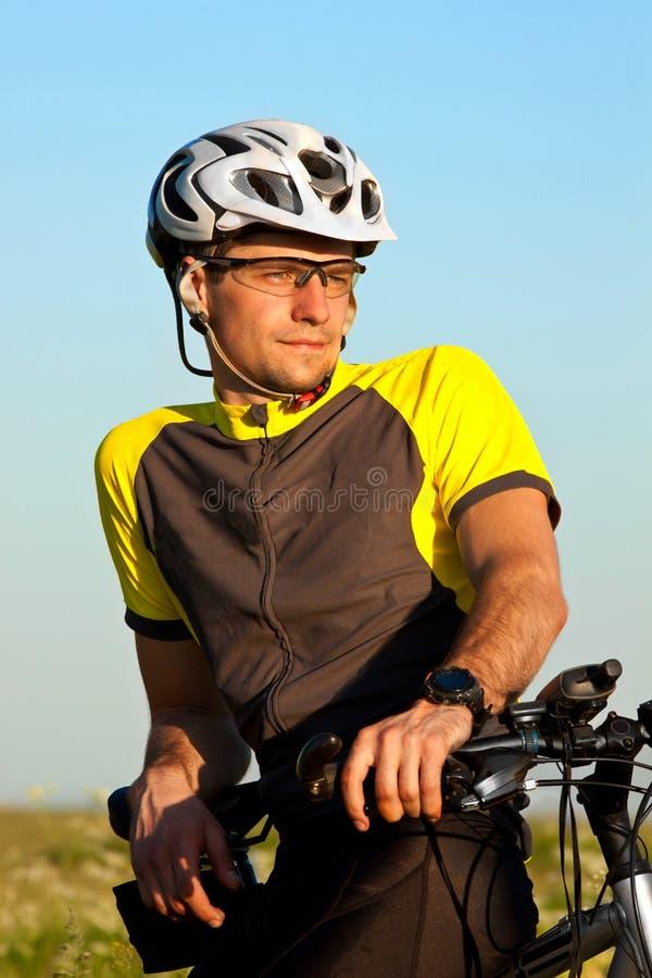 Clouse up portrait of mountain biker