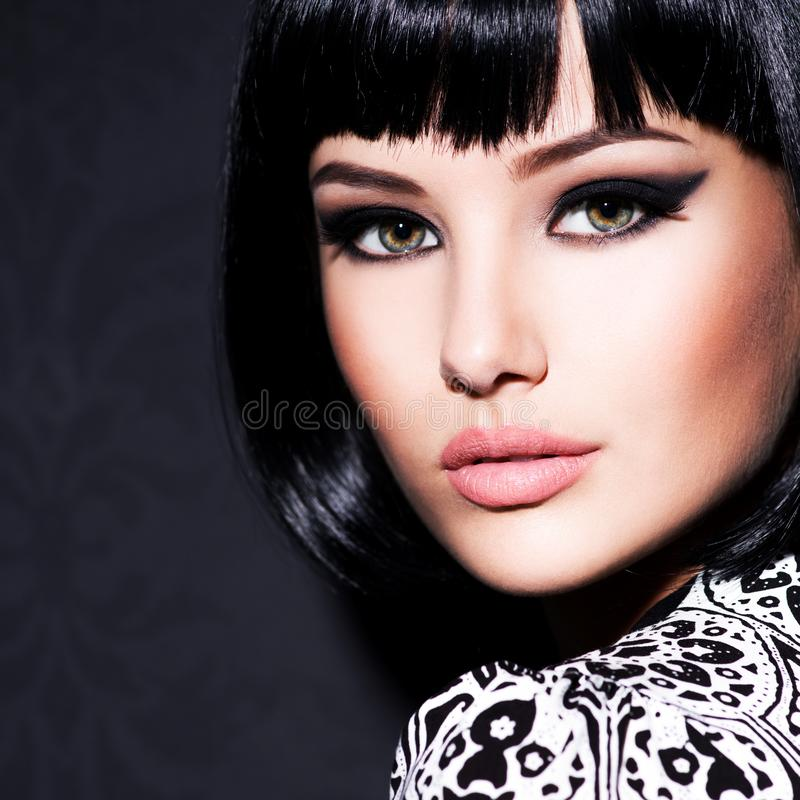 Beautiful woman with bright glamour makeup royalty free stock photos
