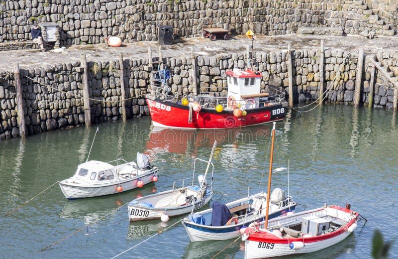 Clovelly Harbour, Devon, England stock photos