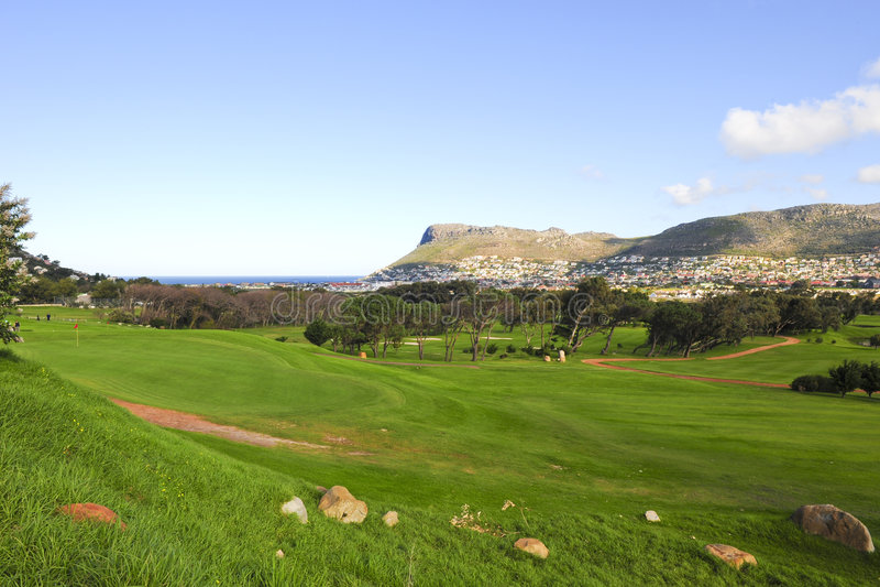 clovelly kursu golfa zdjęcia stock