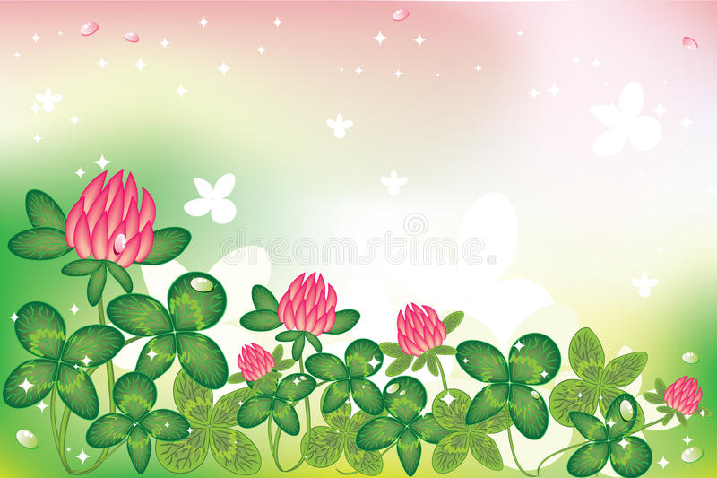 Download Clover background stock vector. Image of backdrop, ireland - 12280624