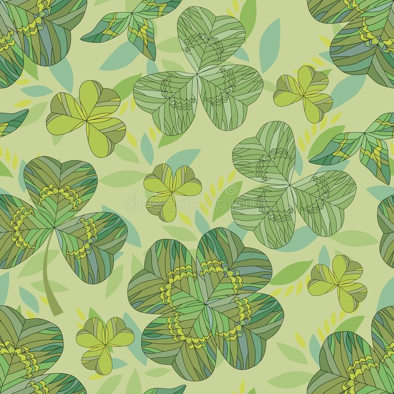Clover background. Seamless pattern. royalty free illustration