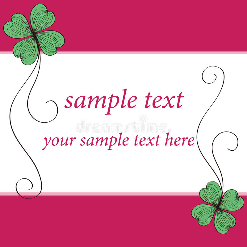Download Clover Card Pattern Design Stock Photo - Image: 26111570