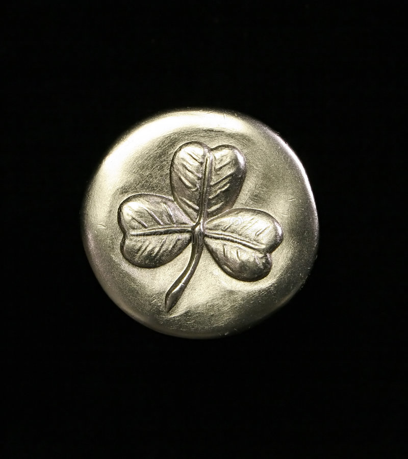 Clover Coin stock images