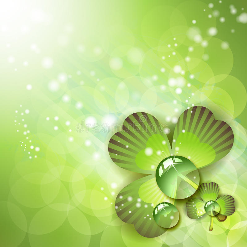 Download Clover with drops of water stock vector. Image of blossom - 19406706