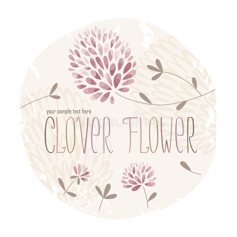 Free Clover Flower Circle Royalty Free Stock Image - 55767536