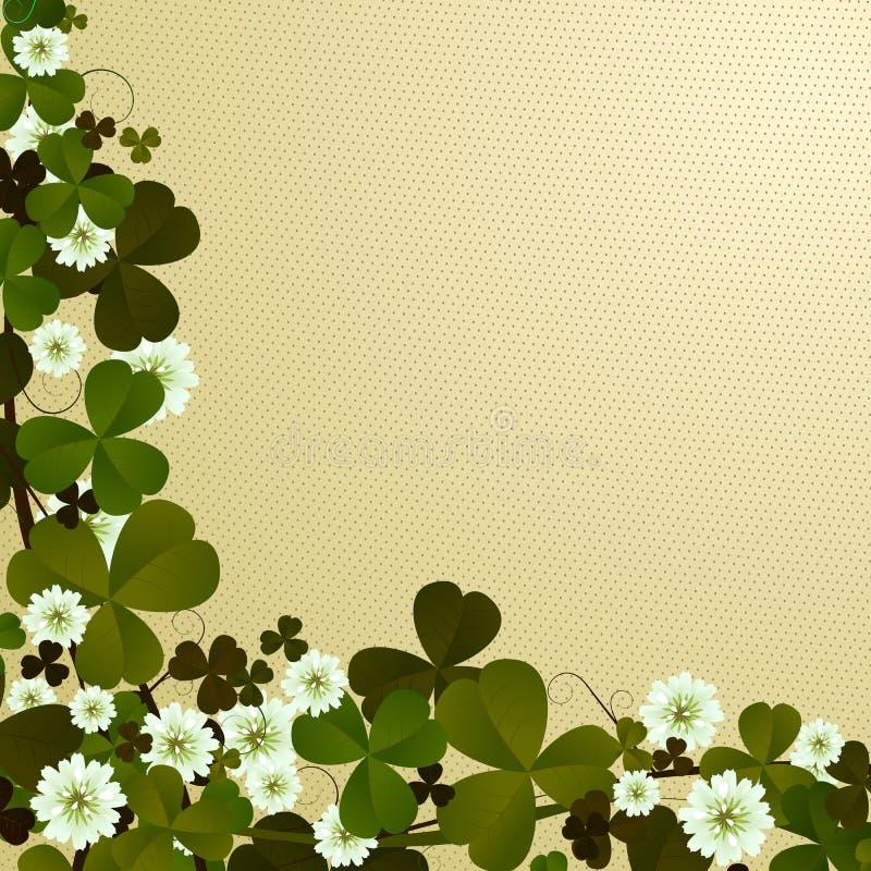 Clover leaf border stock illustration