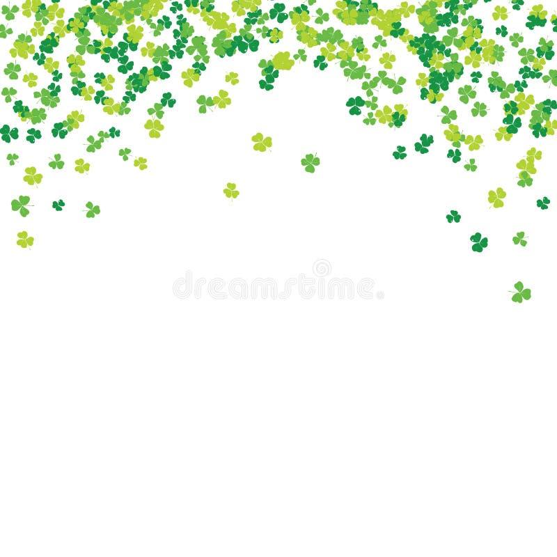 Clover leaf hand drawn sketch doodle illustration. St Patricks Day symbol, Irish lucky shamrock background.  royalty free illustration