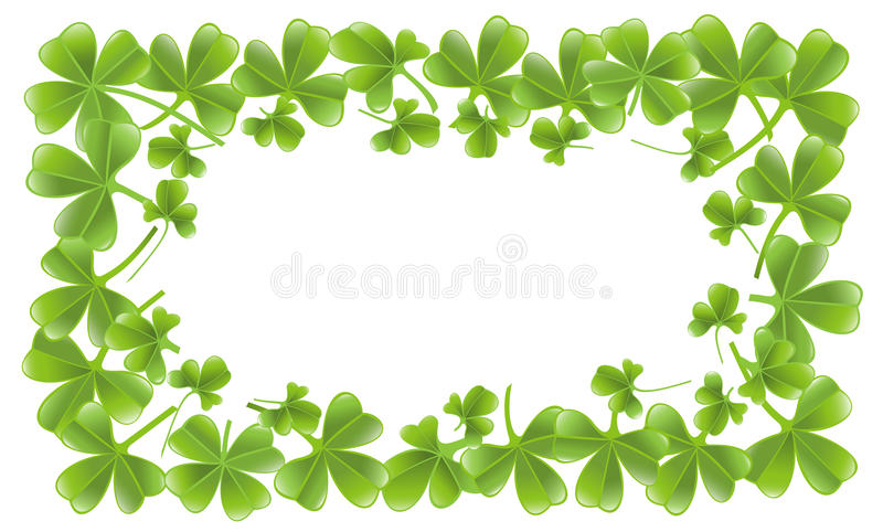 Clover Leafs Frame Stock Images