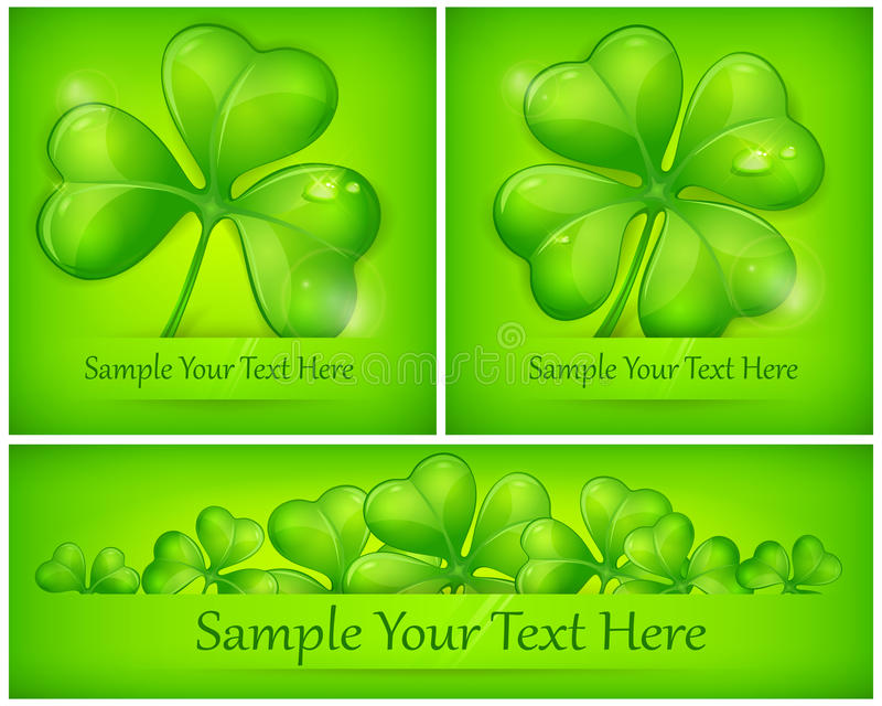 Download Clover leaves on green stock vector. Image of tradition - 28858578
