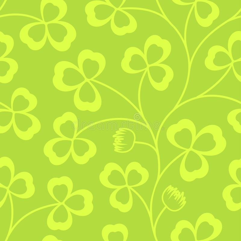 Clover leaves seamless vector pattern st patricks day green download clover leaves seamless vector pattern st patricks day green background voltagebd Image collections