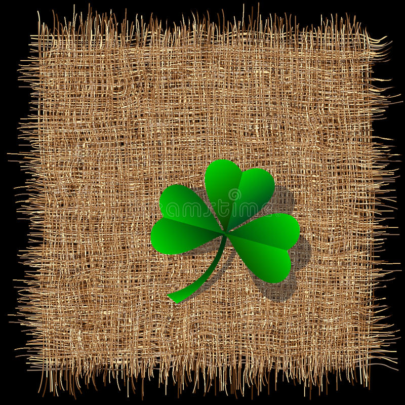 Download Clover On Organic Weave Royalty Free Stock Image - Image: 22891446