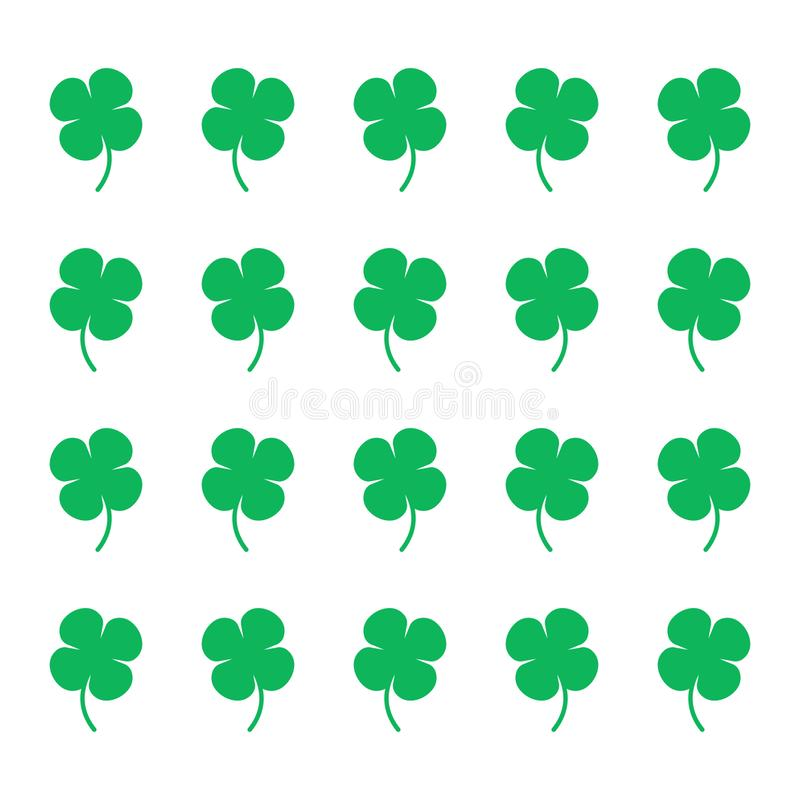 Clover pattern for textile fabric or wallpaper background.  royalty free illustration
